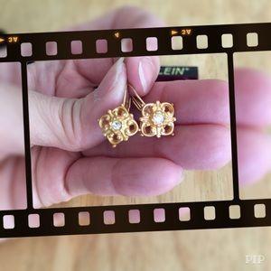 Anne Klein gold color earrings